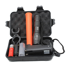 Police Linternas Cree XML T6 3800LM Tactical Military Flashlight Led + Gift Box + Charger + Red Baton + 18650 Battery Bike Light