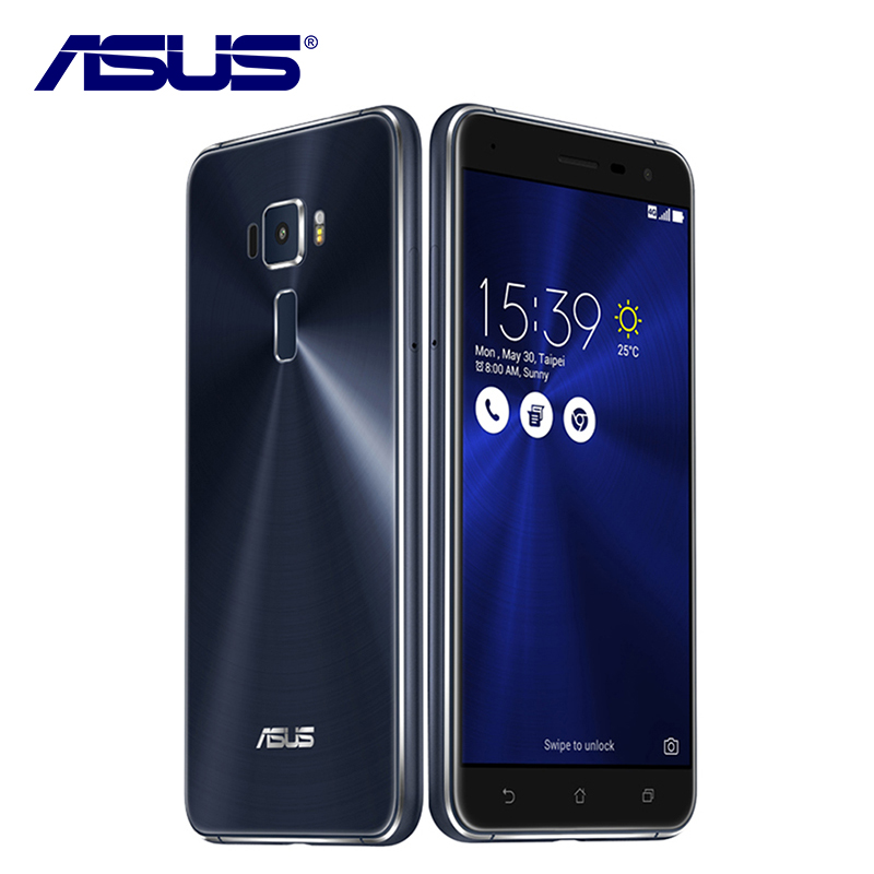 bilder für Neue Asus ZenFone 3 ZE552KL Handy 4 GB RAM 64 GB ROM Android 6.0 Qualcomm Octa-core 2.5D gorilla glas 1080 P 5,5 ''16.0MP
