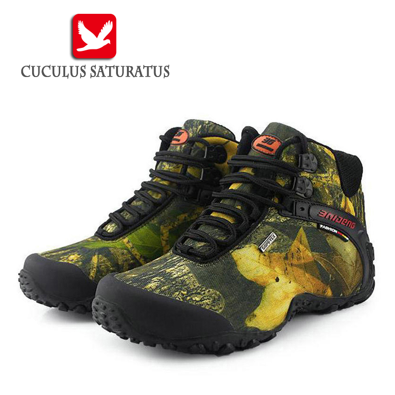 New Outdoor Fun Sports Mountain Trekking Shoes font b Hunting b font Boots Leather Waterproof Hiking