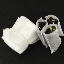 100 шт. 8*10 см/9*10 см Нетканый материал для посева мешки для питомника кассеты для рассады рассада мешки для растений ткани Садовые принадлежности