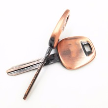 Fob-Cover Blank-Key Remote-Case Toy43 Blade Toyota Car-Key-Shell Copper with Symbol All-Metal-Replacement