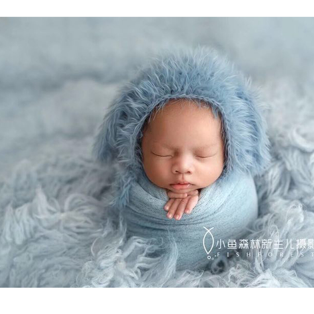 40*160 cm Newborn Soft Swaddle Newborn Photo Props Wraps, Stretch Photography Prop, Unique Cheesecloth Wrap Bebe Stretch Cheese