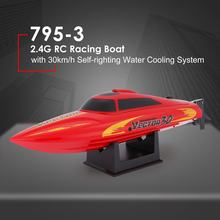 795-3 30km/h RC boat 2.4G Brushed High Speed RC Racing Boat Speedboat Ship with Water Cooling System Self-righting Kids Gift z(China)