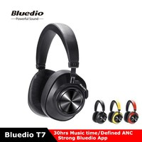 NEW Arrival Bluedio T7 Bluetooth Headphones User defined Active Noise Canceling HiFi Sound Headset With Mic Face Recognition