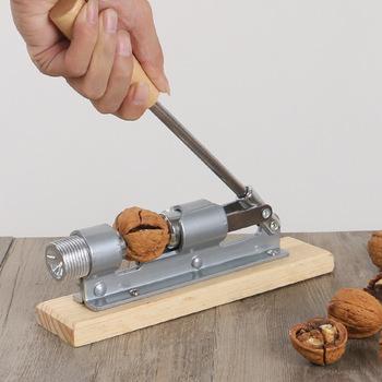 Nowa instrukcja nakrętka ze stali nierdzewnej Cracker mechaniczna skorupa orzech dziadek do orzechów szybki otwieracz narzędzia kuchenne owoce i warzywa tanie i dobre opinie Metal