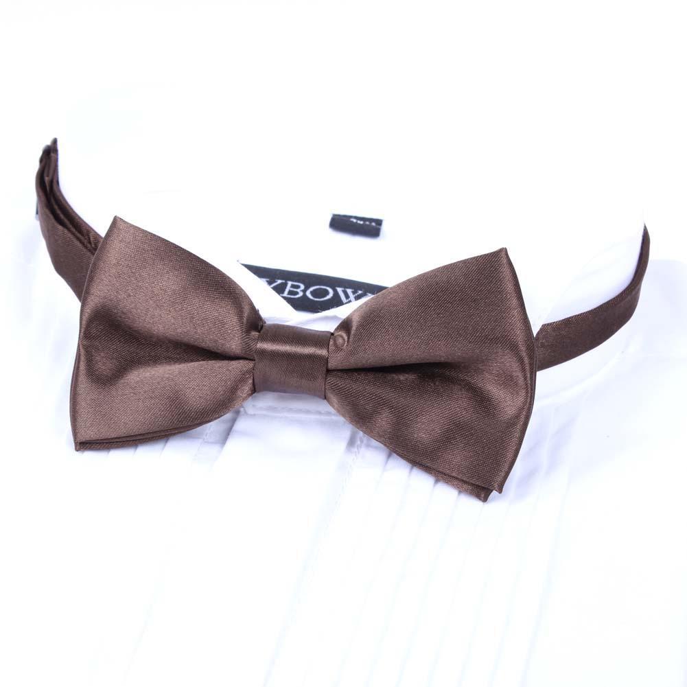 Bekleidung Zubehör Neue Einstellbare Herren Bowtie Vintage Hochzeit Kleid Anzüge Krawatte Tasche Schmetterling Knoten Braun Bowknot Für Männer