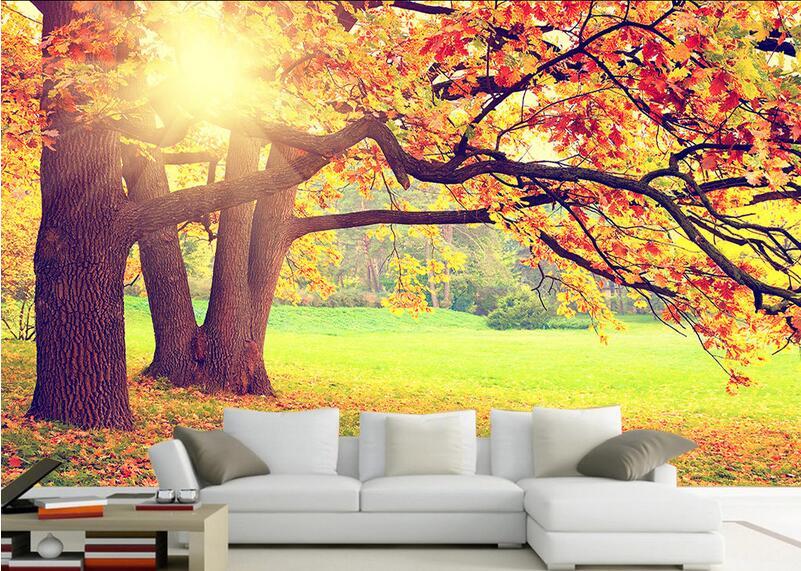 Popular autumn forest wall mural buy cheap autumn forest for Autumn wall mural