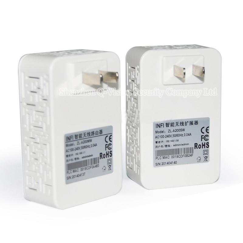 3-UKEUCN Broadlink DNA 200M Wireless WIFI Router Powerline Carrier Extend Wireless Smart Router WIFI Range Extender Automation
