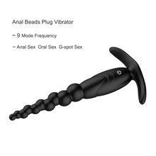 New Waterproof Silicone Unisex Sex Toys 10 Speed Anal Beads Vibrating Butt Plug G Spot Vibrator Anal Sex Toys for Women