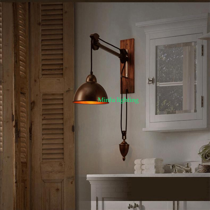 industrial decor indoor decorative lights study room led wall mount light swing arm sconce adjustable wall - Wall Mounted Bedroom Lights