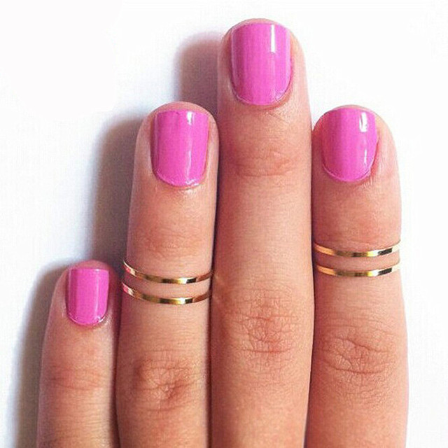 R024 1pc Midi Tip Finger Above The Knuckle Ring Simple Fine Jewelry Accessories