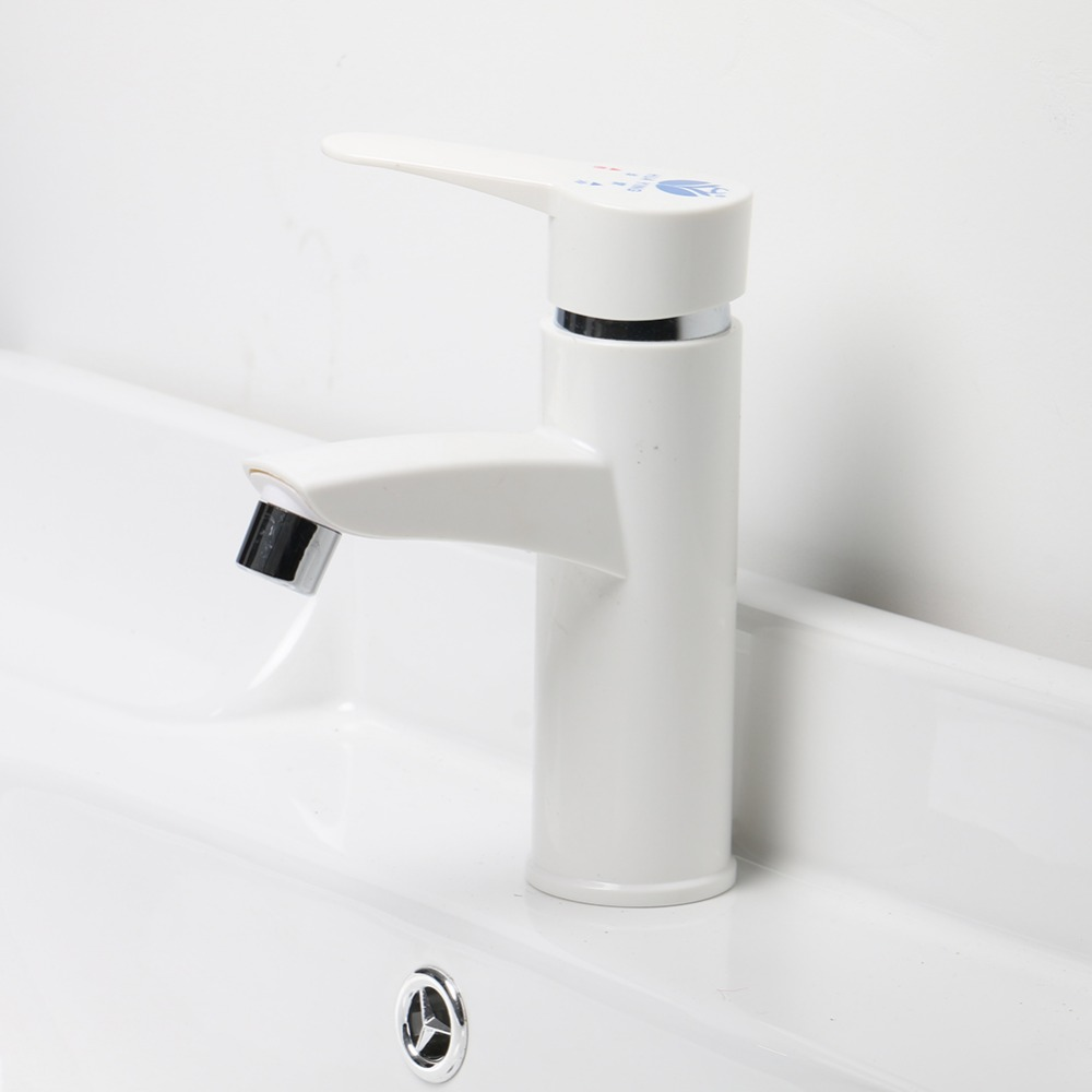 High Quality Plastic Single Handle Bathroom Sink Faucet Hot and Cold ...