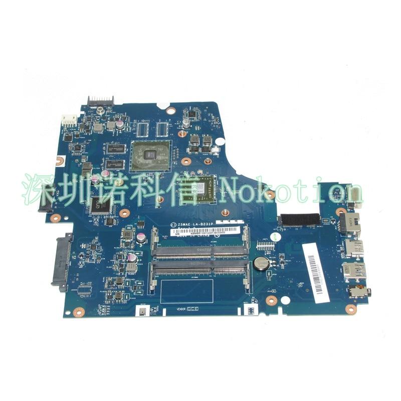 NOKOTION Z5WAE LA-B231P NBMS511001 NB.MS511.001 For acer aspire E5-521 E5-521G laptop motherboard DDR3 Mainboard works