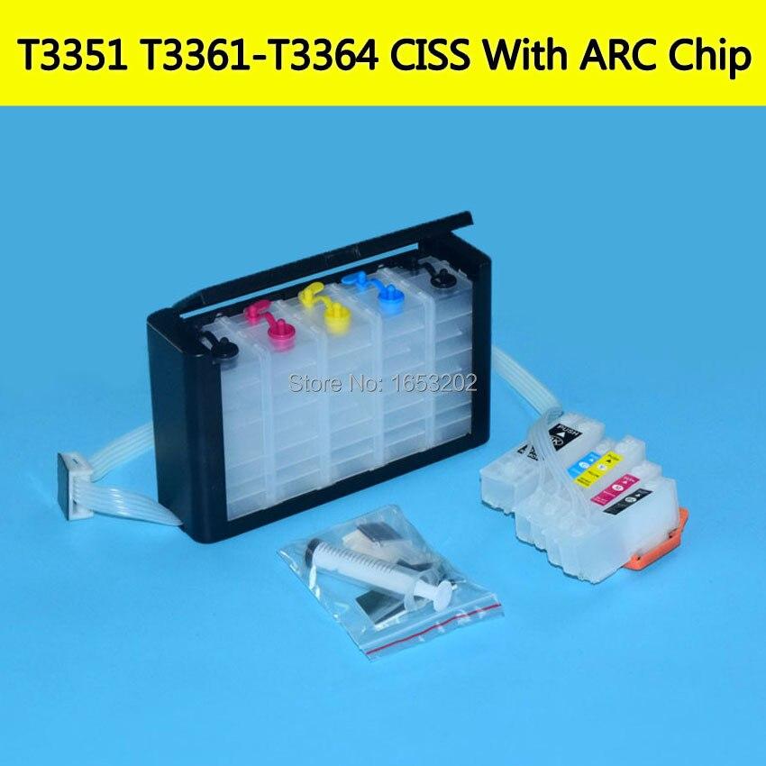 EPSON T3351 T3361-T3364 Bulk ink Ciss With ARC Chip 1