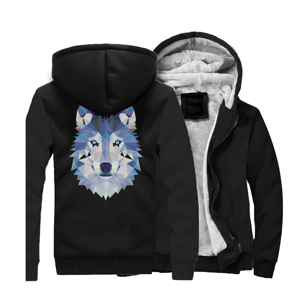 HAMPSON LANQE Animal Wolf Hoodies 2019 New Style Brand Sweatshirts Hip Hop Loose Fit Jacket Men's Casual Outwear For Adult CM01