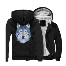 HAMPSON LANQE Animal Wolf Hoodies 2019 New Style Brand Sweatshirts Hip Hop Loose Fit Jacket Mens Casual Outwear For Adult CM01