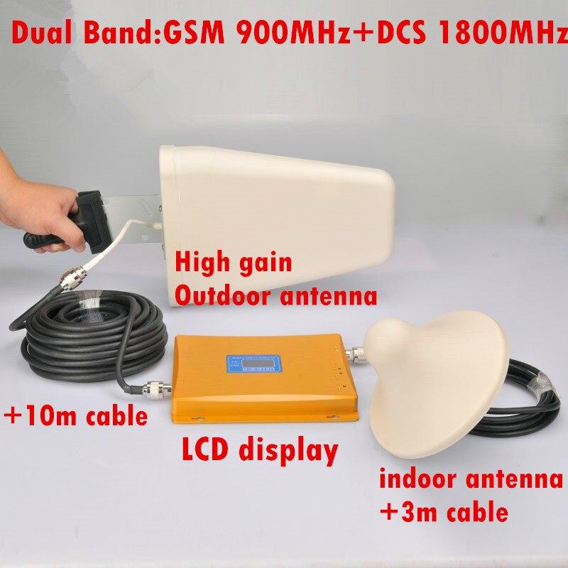 Hot Sell 1 set LCD Display !!! Dual Band Repeater Amplifier, GSM Repeater Dual Band 900 1800, Signal Repeater Booster AmplifierHot Sell 1 set LCD Display !!! Dual Band Repeater Amplifier, GSM Repeater Dual Band 900 1800, Signal Repeater Booster Amplifier