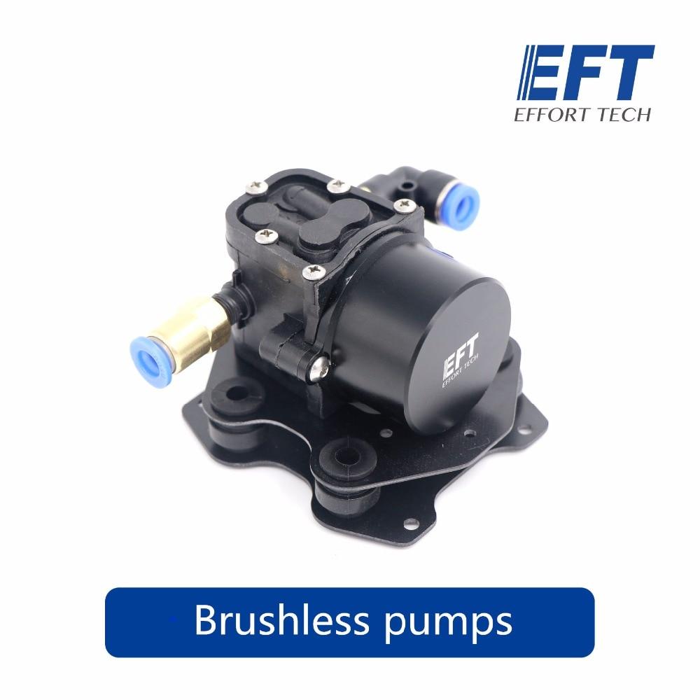 EFT Mini Brushless Water Pump Spraying Pesticide Miniature Pressure Reflux Diaphragm for DIY Agricultural multirotor складной измерительный угольник truper eft 8 14382