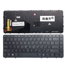 US FOR HP For EliteBook 840 G1 850 G1 ZBook 14 Black New English Replace laptop keyboard backlight With pointing sticks(China)