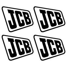 Для JCB old aufkleber стикер bagger экскаватор 4 наклейки для стайлинга автомобилей