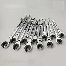 Adjustable Spanner repair tool Ratchet Flare Nut Wrench Spanner Ratchet 72 Teeth Hand Tools цены онлайн