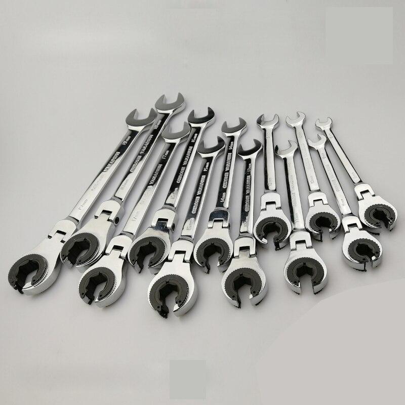 Alargamento Nut Wrench Spanner repair tool Catraca Chave Catraca ajustável 72 Dentes Ferramentas Manuais