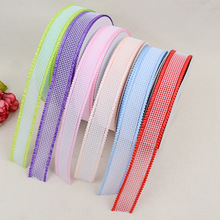 DIY Bow Accessories Headdress Clothing Ribbon Double-layer Hollow Transparent Mesh Elastic Grosgrain