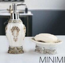Bathroom Set Piece European Hand Sanitizer Bottle Resin Soap Box Toilet Product Decoration Toothbrush Holderenglish1603g10