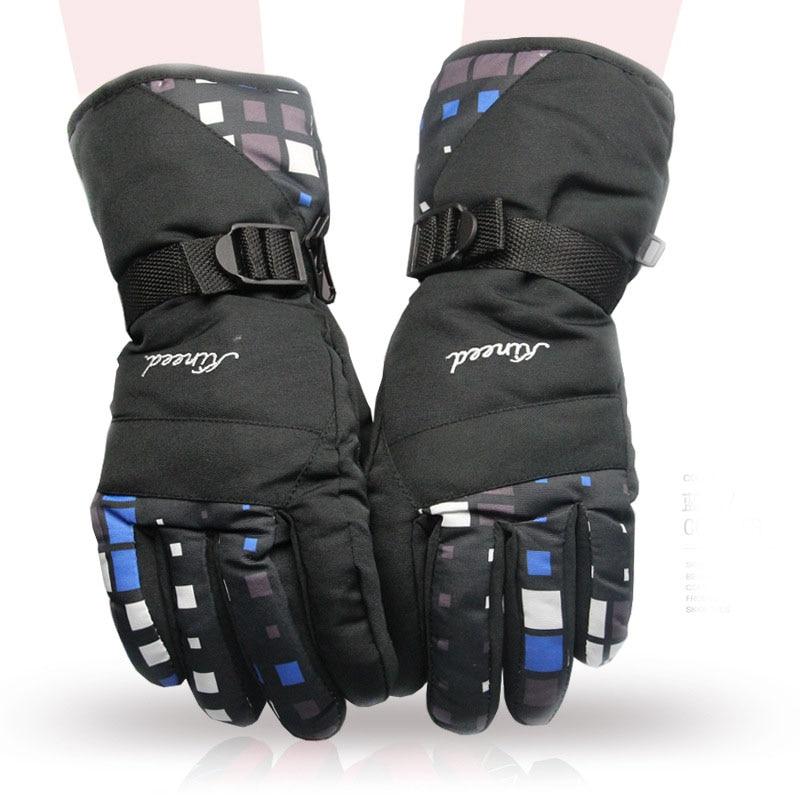 Unisex Outdoor Soft Thickening Warm Snowboard Gloves Outdoor Winter Skiing Gloves Sports Waterproof Windproof Ski Gloves