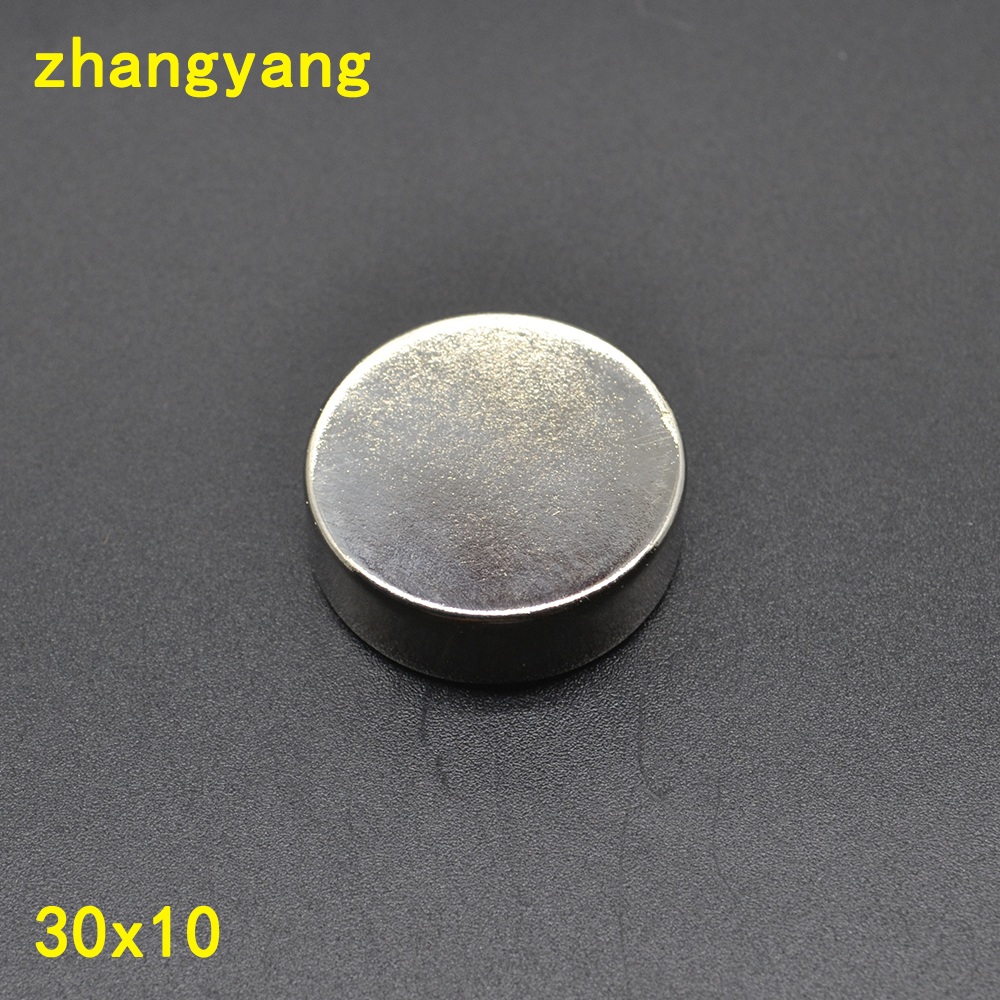 2PCS 30mm x 10mm Strong 30*10 <font><b>Neodymium</b></font> <font><b>Magnet</b></font> Rare Earth <font><b>30x10</b></font> Disc Fridge Craft NEW Art Craft Connection image
