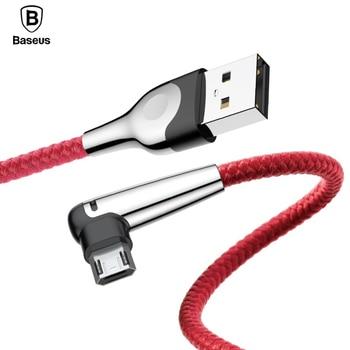 Baseus Lightning Cable Micro USB Reversible carga rápida de carga de datos para Samsung Xiaomi Tablet Microusb Cable Android Cable