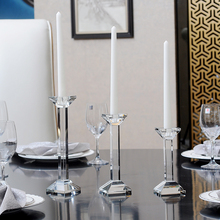 Modern Crystal candle holders transparent Glass holder centros de mesa para boda home decor wedding centerpieces