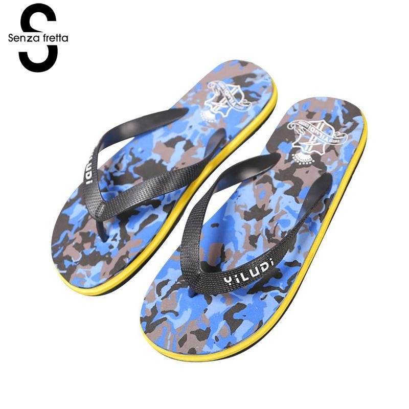 Senza Fretta Summer Men Massage Flip Flops Sandals Fashion Non-slip Men Flip-flops Casual Beach Slipper Flip Flops Men Plus Size senza fretta men shoes flip flops beach sandals casual summer eva slippers shoes men casual non slip sandals flip flops shoes
