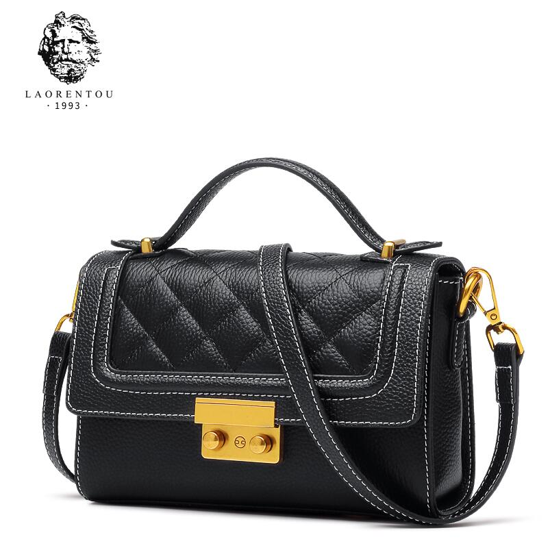 купить LAORENTOU 2018 new leather fashion simple shoulder bag Messenger bag ladies bag small square bag по цене 4961.78 рублей