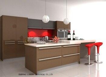 Кухонные шкафы из лака (с рисунком в виде LH-LA005)