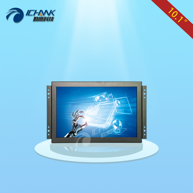 K101TC-ABHUV-D/10.1 inch 1280x800 720p 1080p Metal Case Embedded Open Frame Free Drive Multi-point Capacitive LCD Touch Monitor