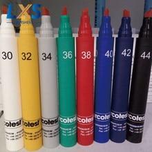 лучшая цена 30~44 mN/m German ARCOTEC Red Ink Color Wet Strength Test Pen/ Dyne Test Pen For Plastic film