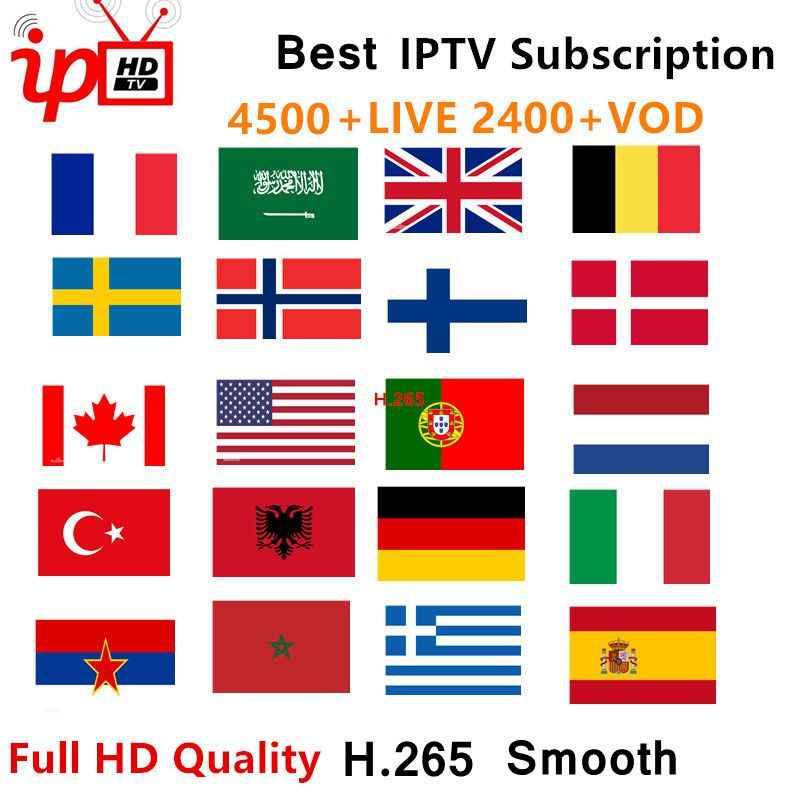最高の安定した IPTV スペイン M3U ライブ IPTV ポルトガルフランス Enigma2 ため 1 年 IPTV サブスクリプション VOD Android ボックス M3U スマートテレビ 7500 + ライブ