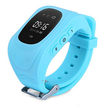 Q50 Pantalla OLED GPS Smart Kid Reloj de Llamada SOS Ubicación Monitor Del Bebé Del Reloj Localizador Del buscador Del Perseguidor para Childreb Perdida Anti c0