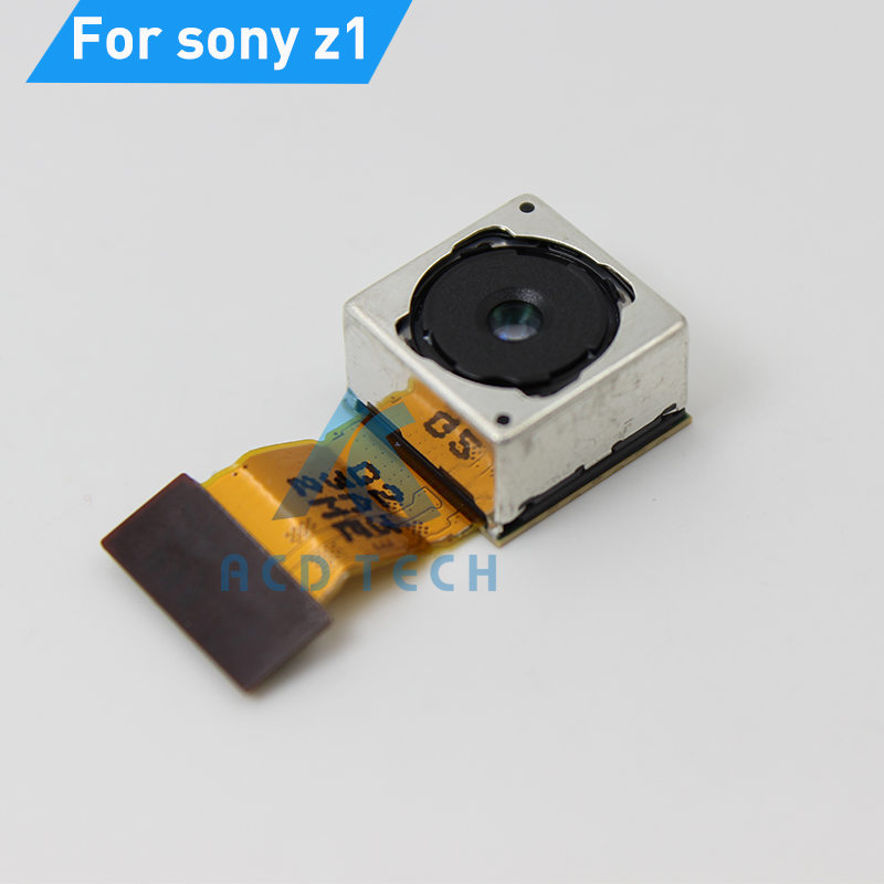 Original Rear Main Camera For Sony Z1 L39H C6902 C6903 Big Camera Flex Cable Back Camera Replacement Parts Fast Shipping