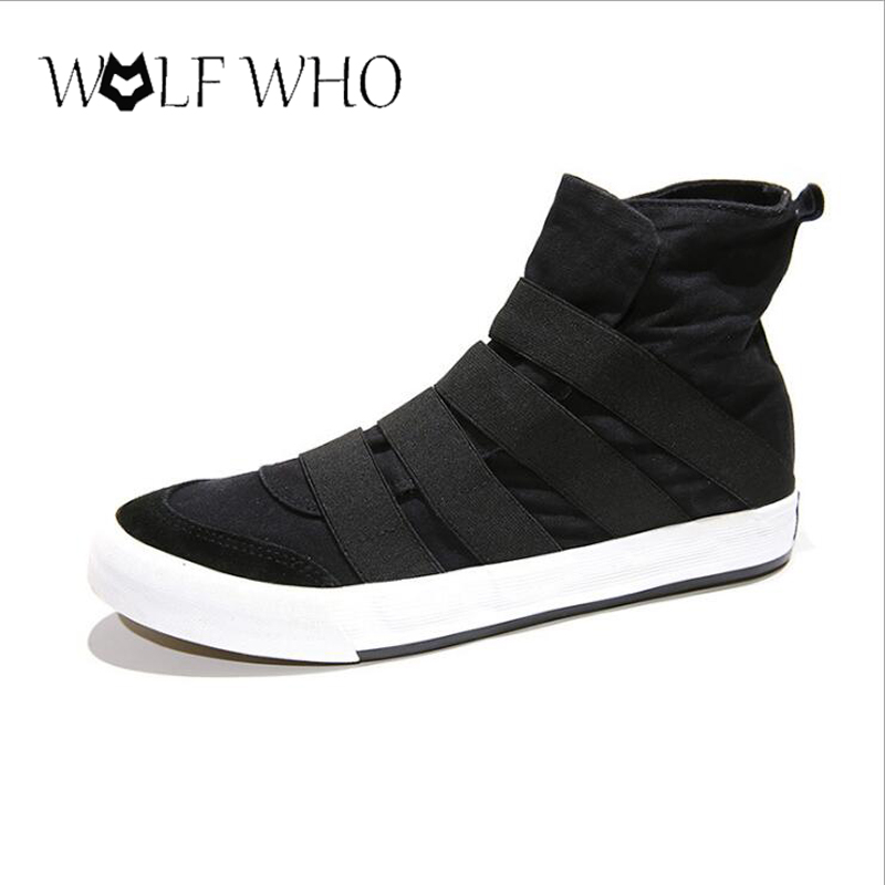 WolfWho New High Top Men Shoes Flats Slip On Casual Shoes Male Canvas Shoes Plimsolls Espadrilles Man Trainers Zapatillas Hombre