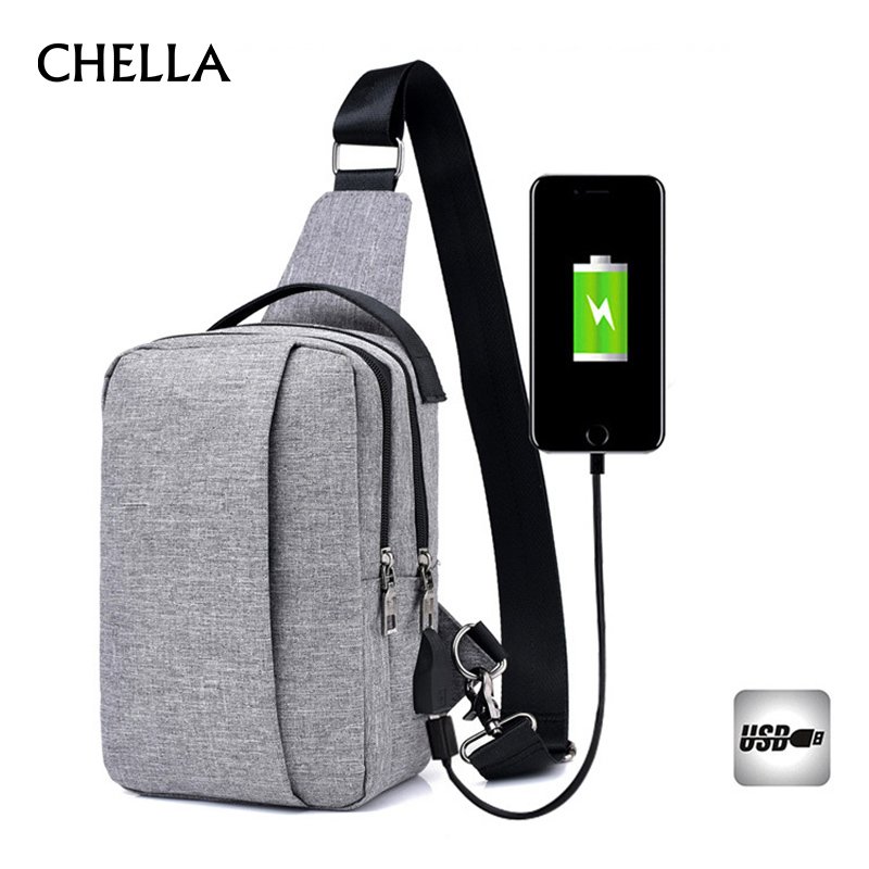Men Women Backpack Anti Theft Teenager Canvas Chest Bag Large Casual USB Rechargeable Boy Single Shoulder Sac A Dos Homme BP0223 casual canvas satchel men sling bag