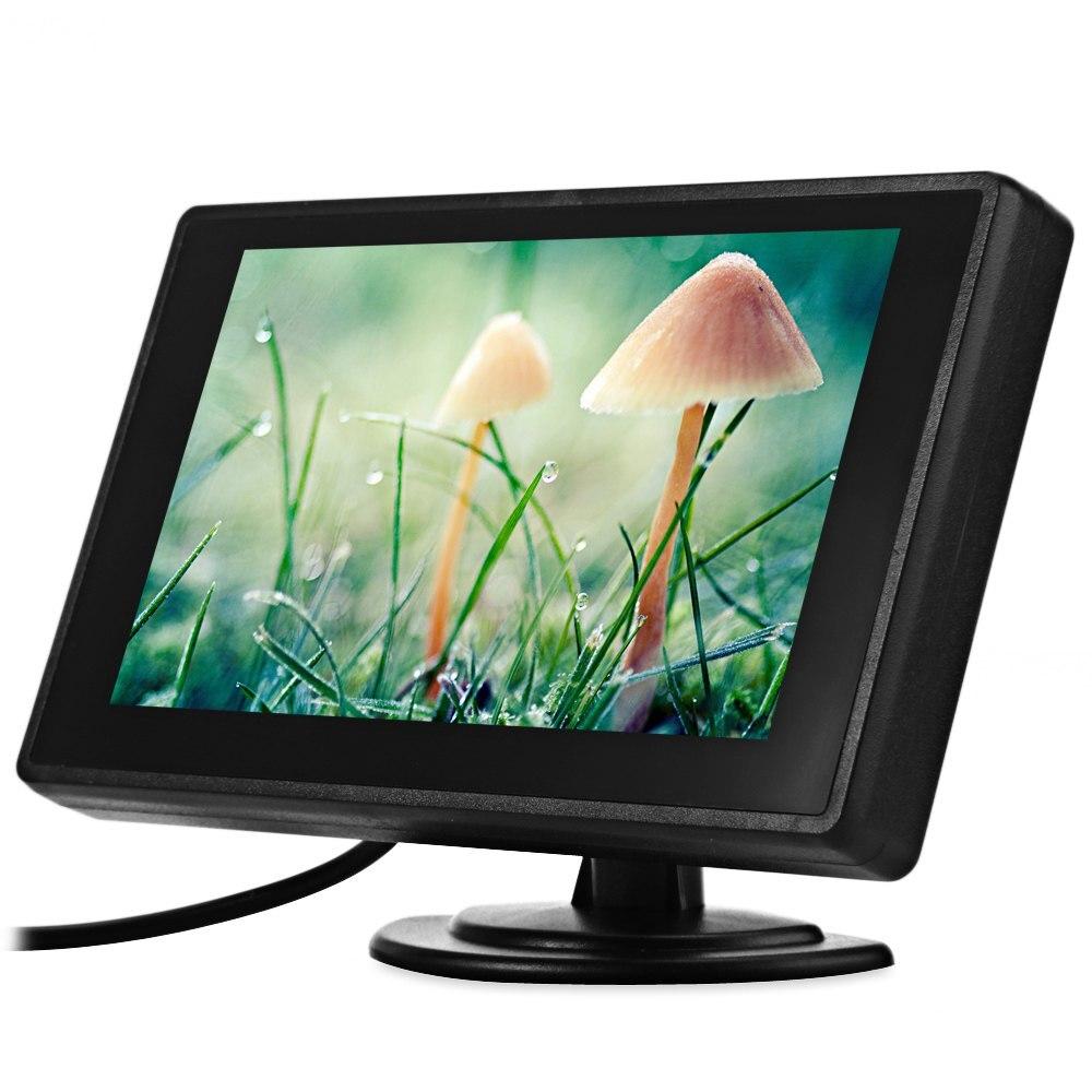 imágenes para 4.3 pulgadas TFT LCD de Coches Vista Trasera Del Monitor Retrovisor Del Coche de Aparcamiento Monitor 2 de Entrada de Vídeo para Cámara de Marcha Atrás de copia de seguridad de DVD de Alta Definición