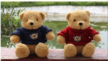 a pair of lovely Teddy bear toys blue cloth and red cloth lovely bear dolls gift about 26cm