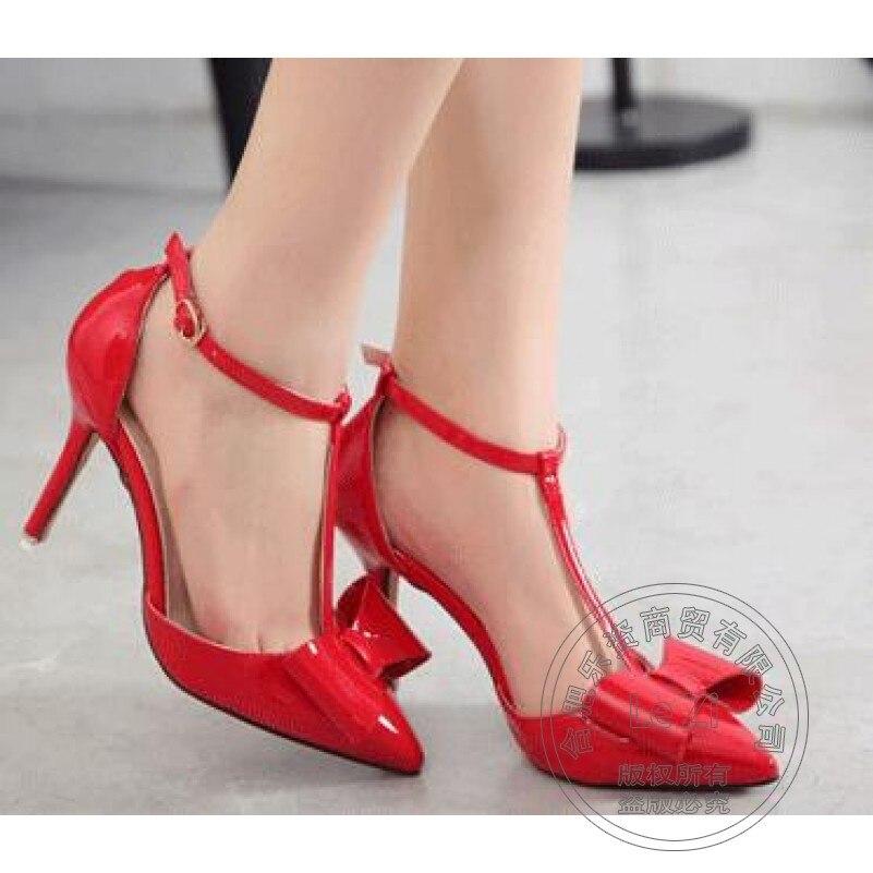 font b Women b font Shoes Bowknot Thin Casual Pu Shop Cheap Shoes Stiletto Heels