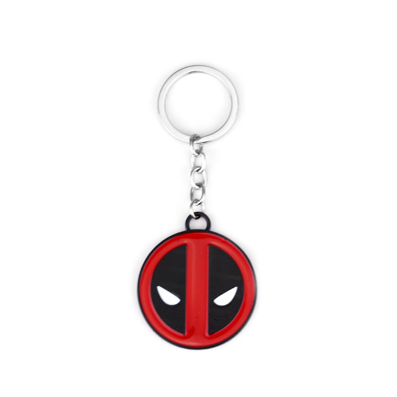 Game Deadpool Keychain 2 Styles New Dead Pool Logo Marvel Comics Alloy Metal Key Chain Ring Key Holder Jewelry Souvenirs Gift