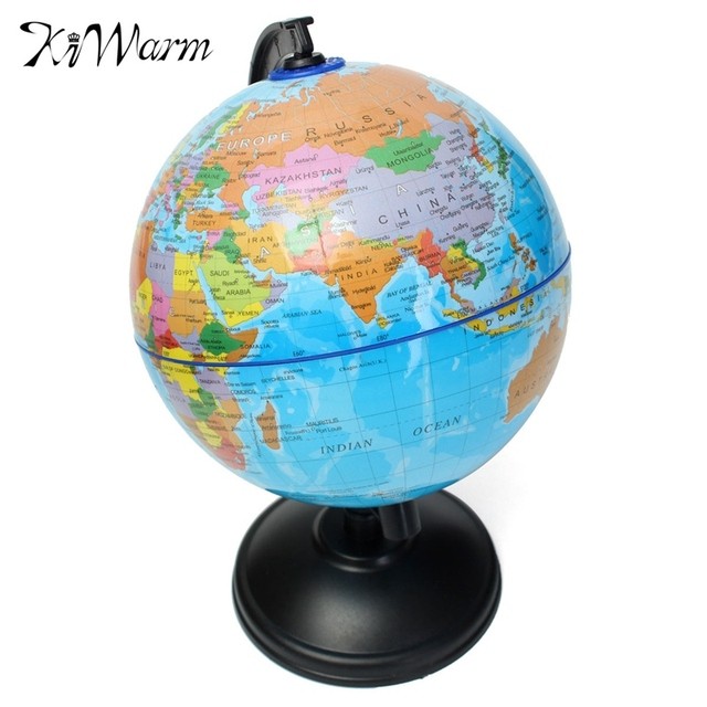 Kiwarm modern 1pc 14cm world globe atlas map with swivel stand for kiwarm modern 1pc 14cm world globe atlas map with swivel stand for home office decoration craft gumiabroncs Image collections