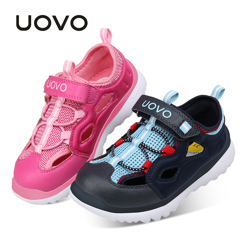 UOVO 2017 New Designed Kids Sandals Fashion Boys & Girls Sandals Summer Children Shoes Closed Toe Casual Sport Eur 28-37#