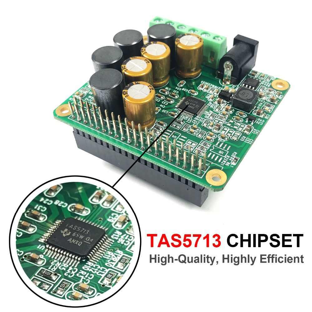 RPI HiFi AMP HAT 25W Class D Power Amplifier TAS5713 Audio Sound Card  Expansion Board for Raspberry Pi 4 3 B B+ Pi Zero W|Demo Board Accessories