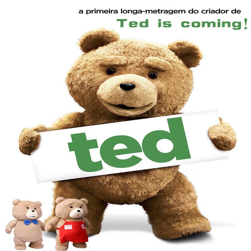 Ted2 tecknad film teddybjörn TED plysch leksaker mjuk fylld djur - Dockor och tillbehör - Foto 2